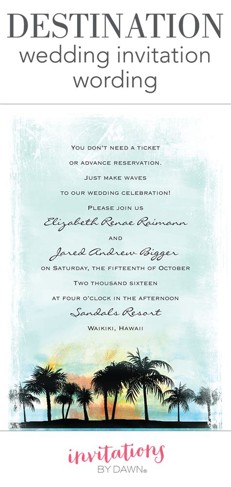invitation wording for after destination wedding destination wedding invitation wording invitations by
