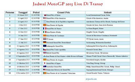 Schedule Board Papan Jadwal Terbaru motogp 2016 trans7 motogp 2017 info points table