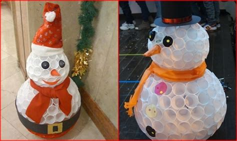 How to of the day how to make snowman using plastic cups
