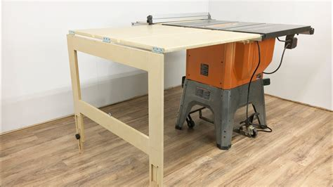 Ridgid R4512 Outfeed Table Plans Table Design Ideas