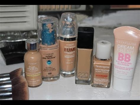 my top drugstore foundations for acne skin