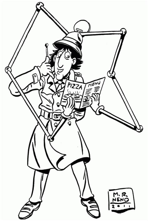 inspector gadget coloring pages coloring home