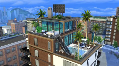 Small Apartments Ideas by The Sims 4 City Living Gallery Spotlight Penthouses
