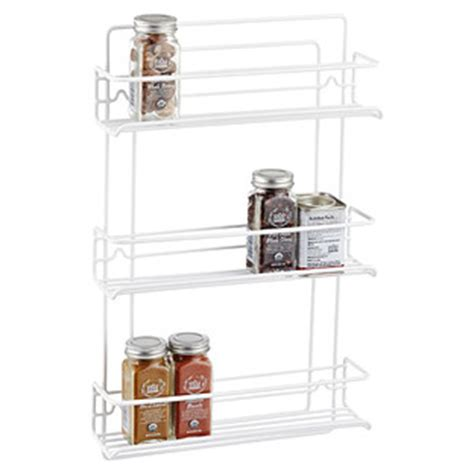 Wire Spice Racks For Cabinets 3 Shelf Wire Spice Rack Reviews The Container Store