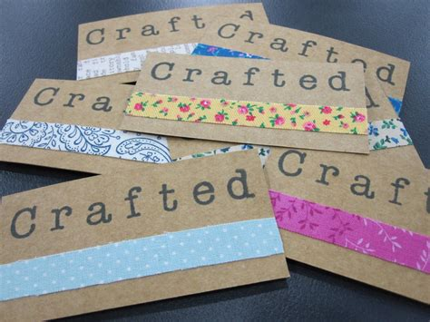 Handmade Card Business - how to handmade business cards crafted