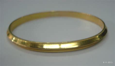 bhawanaaman : 20k gold bangle bracelet sikh kada handmade jewelry india