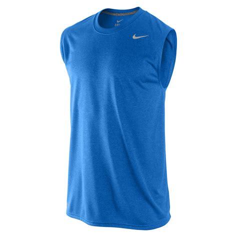 legend boats shirts nike men s legend poly sleeveless t shirt blue sports