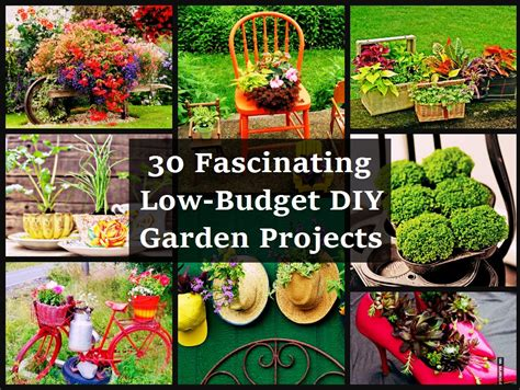 garden diy crafts 30 fascinating low budget diy garden projects