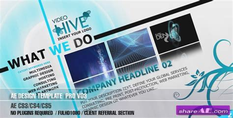 Ae Cs3 Professional Design Template V03 After Effects Project Videohive 187 Free After After Effects Cs3 Templates