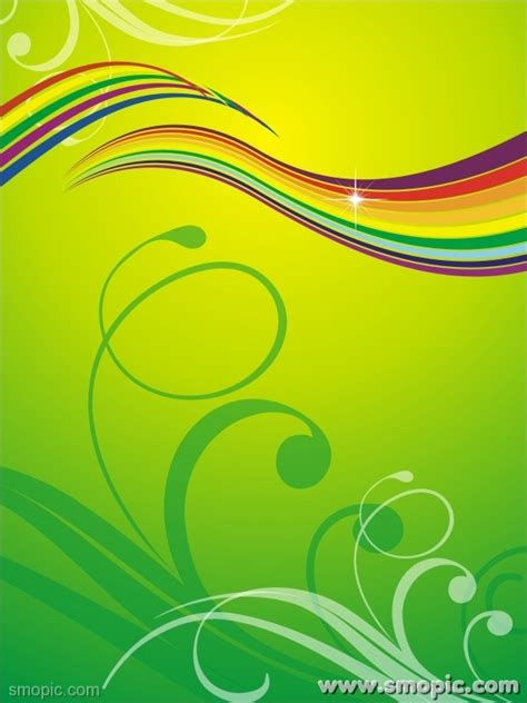 roll  green background design template vertical banner