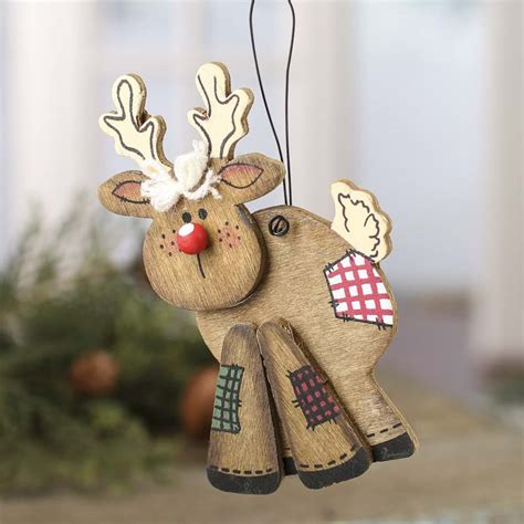primitive wood reindeer ornament signs ornaments