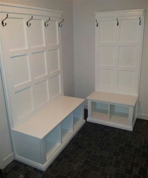 diy mudroom bench plans diy hall tree and benches for mud room plans courtesy of