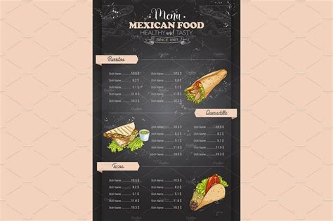 30 best food drink menu templates design shack