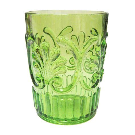 polycarbonate barware le cadeaux polycarbonate water glass light green
