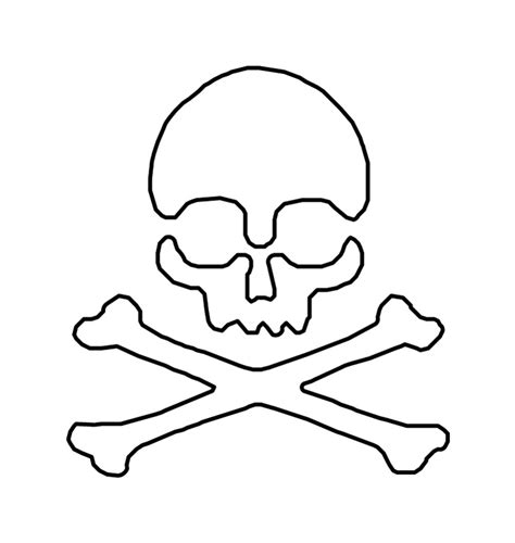 printable skull template skull and cross bones stencil clipart best