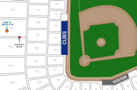 cubs seat chart chicago cubs wrigley field seating chart interactive map