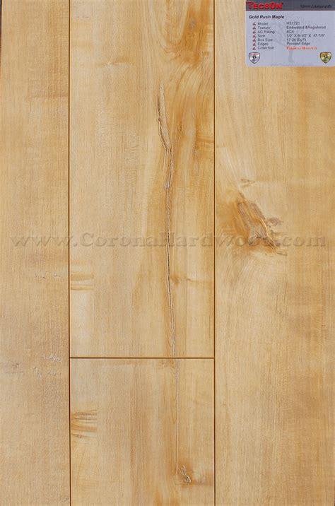 tecsun gold rush maple 12mm wide plank matte finish