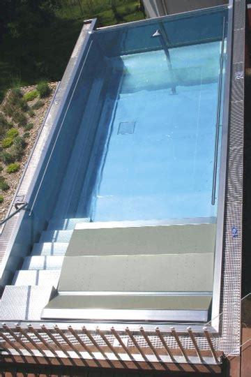 edelstahl pool eigenbau schwimmbad und saunen