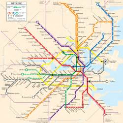Map Of Boston T by Mbta 2050 Boston T Map Trains Planes And Automobiles