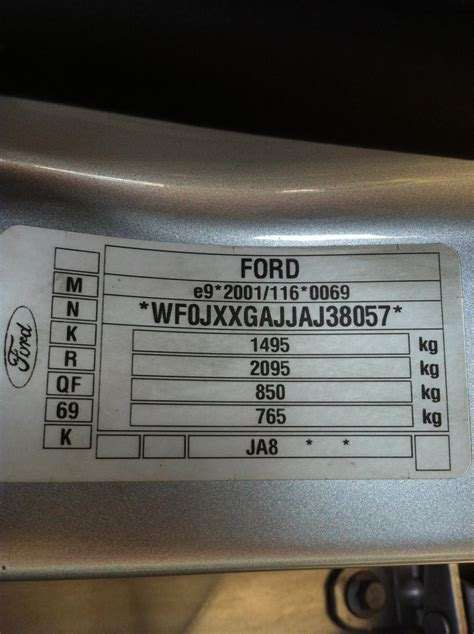 paint colour code for ford