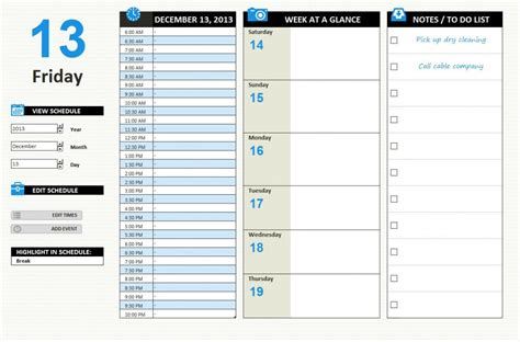daily planner template xls daily work schedule template excel excel daily work schedule
