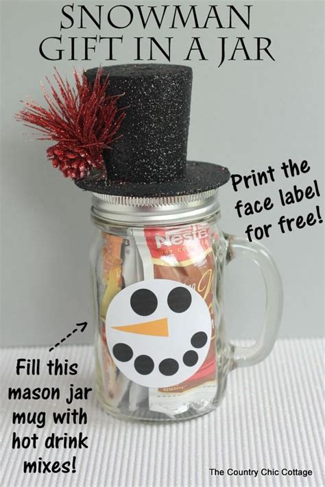 great gift jar mugs in a jar and snowman on