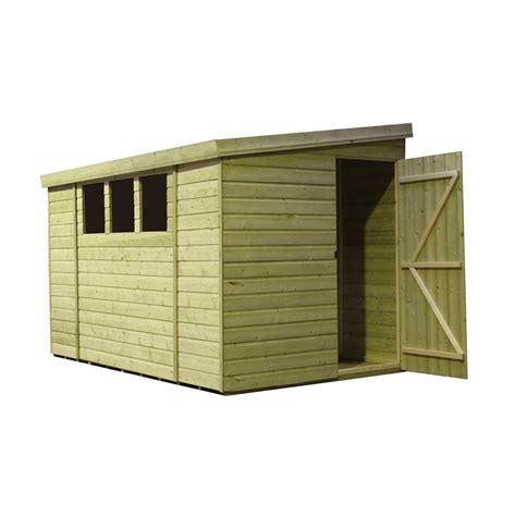 Pent Shed 6 X 3 by 12 X 6 Pressure Treated Tongue And Groove Pent