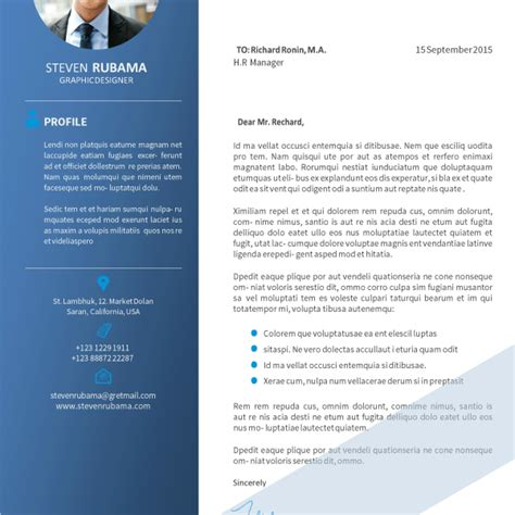 pro job resume modern blue cover letter