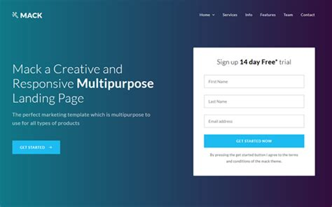 mack    template landing pages wrapbootstrap