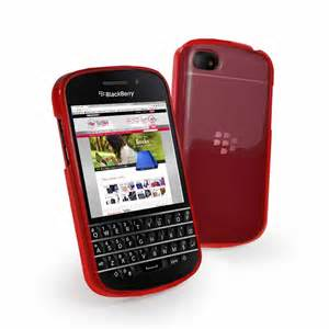 blackberry q10 gel case cover red plus screen protector