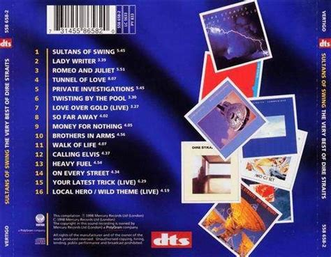 sultans of swing cover dire straits the best of cd back cover is