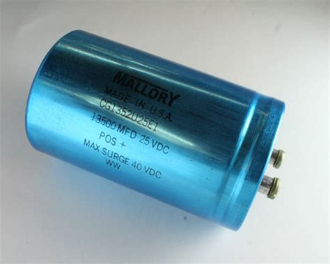 capacitor used in laptop cg1352u25e1 mallory capacitor 13 500uf 25v aluminum electrolytic large can computer grade 2020004481