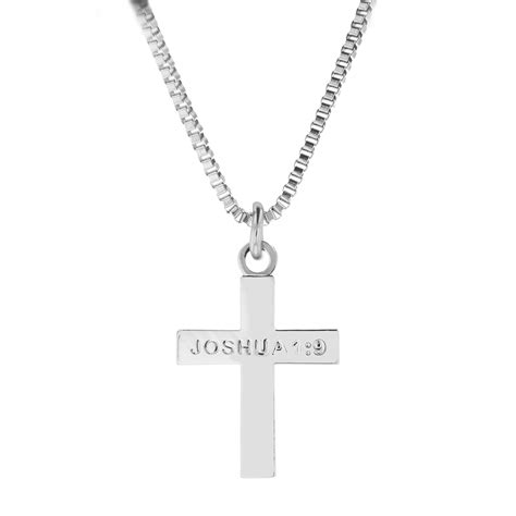 Cross Necklace joshua 1 9 cross necklace sos 20014 s necklaces