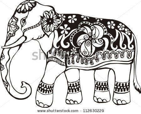 elephant design coloring page indian elephant stencil i m thinking of using this