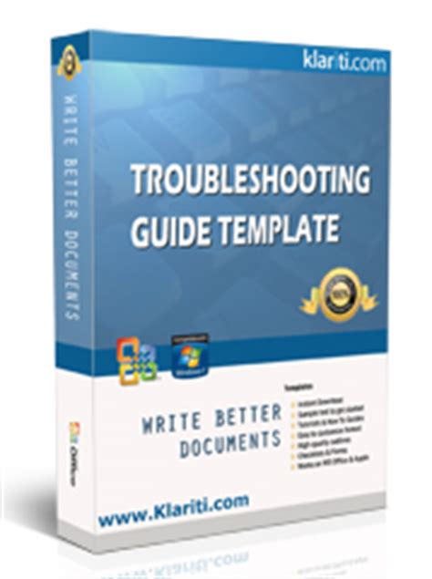 troubleshooting guide template troubleshooting guide templates 3 x ms word