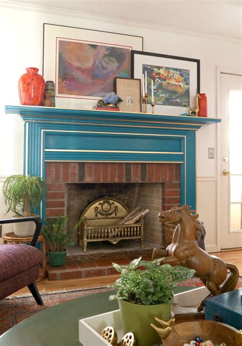 Blue Mantle Fireplaces by Eclectic Home Tour Maggie Overby Studios Elko