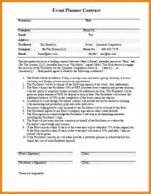 wedding planner contract template 8 event planner contract template nypd resume
