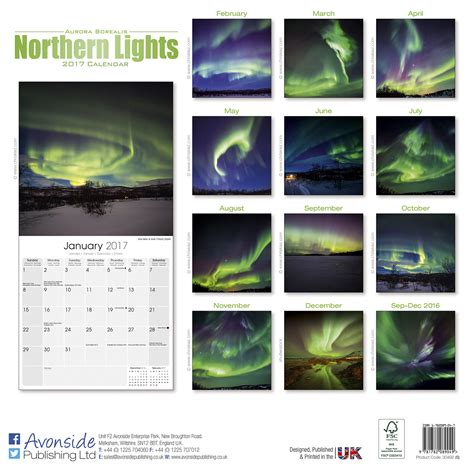 northern lights virginia 2017 northern lights calendar 2017 pet prints inc