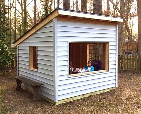 shed playhouse plans paul s outdoor hideaway free 8x8 playhouse plan paul s