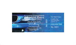 free car wash ticket template ticket templates 99 free word excel pdf psd eps