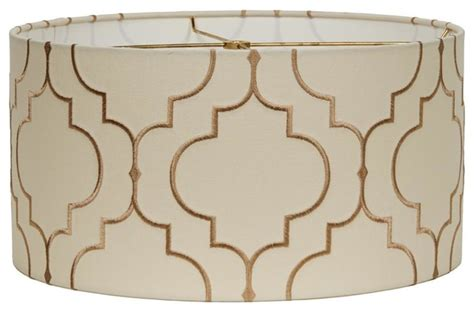 white pattern l shade 16 quot arabesque pattern drum shade l shades by shades