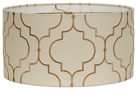 geometric pattern drum l shade 16 quot arabesque pattern drum shade l shades by shades