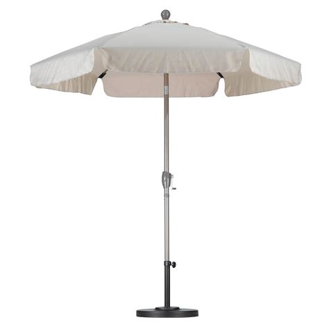 Fiberglass Patio Umbrella California Umbrella 7 1 2 Ft Fiberglass Push Tilt Patio Umbrella In Antique Beige Spunpoly