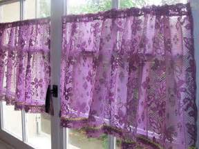 aubergine lace cafe curtains purple kitchen curtains