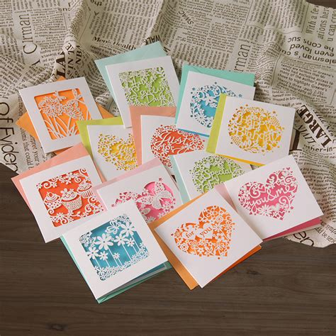 Small Handmade Greeting Cards - aliexpress buy small greeting cards n enveloeps