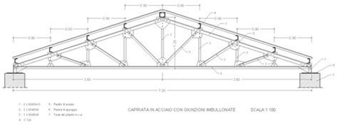 capannone industriale dwg capriate in acciaio dwg