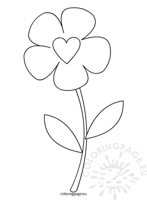 flower colouring template preschool flower template coloring page