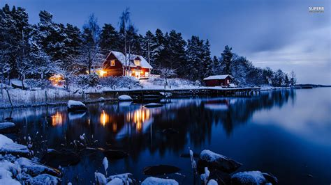 www wallpaper winter cabin wallpaper for desktop 57 images