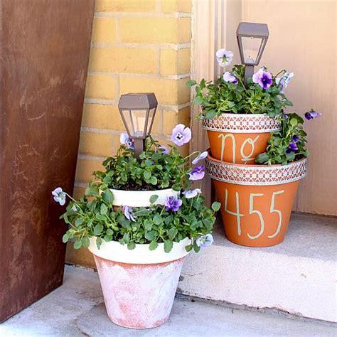 Solar Light And Flower Pot Centerpiece Project By Decoart Flower Pot Solar Light