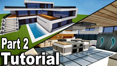 minecraft tutorial modern interior house design how to minecraft realistic modern house tutorial part 2